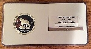 2010-Australia-Lunar-Proof-Year-of-Tiger-Silver-2-Oz-NGC-Graded-POP-of-2