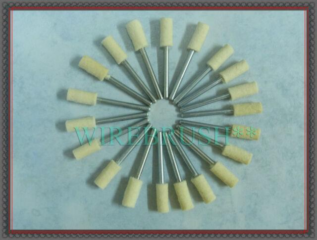 """12 x 4mm 5//32/"""" inch HARD CYLINDRICAL Wool Felt Bob Polishing Rotary Point"""