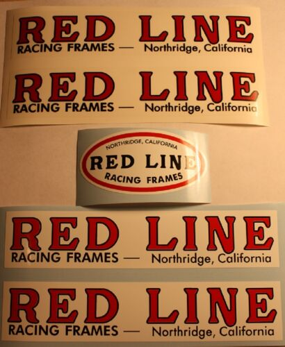 Factory Red Line Redline vintage BMX sticker decals old school Northridge 1976 .