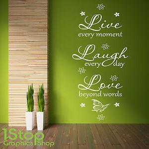 LIVE-LAUGH-LOVE-muro-adesivo-CITAZIONE-salotto-camera-da-letto-casa