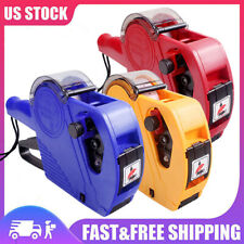 8 Digits Price Tag Gun Mx5500 Eos With Label Paper Amp Ink Roller Retail Shop C2j4
