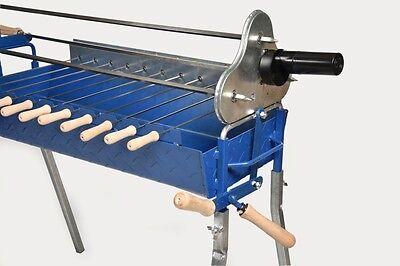 BBQ Skewers Kebab Steel Metal Wooden handle Cypriot BBQ Rotisserie 40cm