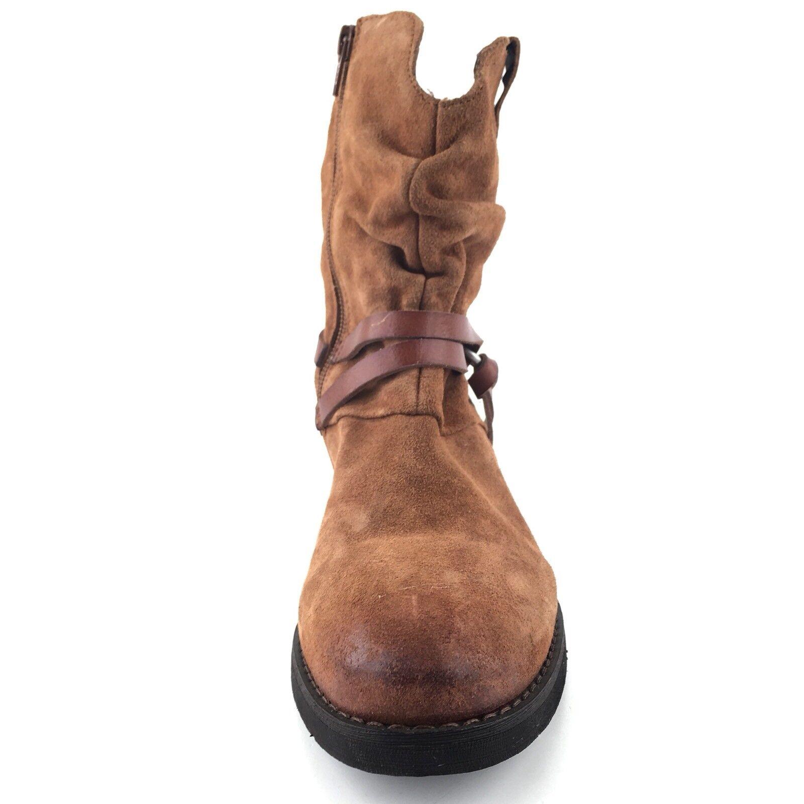 Corso Como Como Como 'Seaton' Cognac Suede Slouchy Harness Ankle Boots Womens Size 8.5 M  fdf8f9