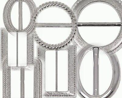 10 Plata De Efecto Diamante Cinta Hebilla deslizadores tarjetas de invitación de Boda Craft