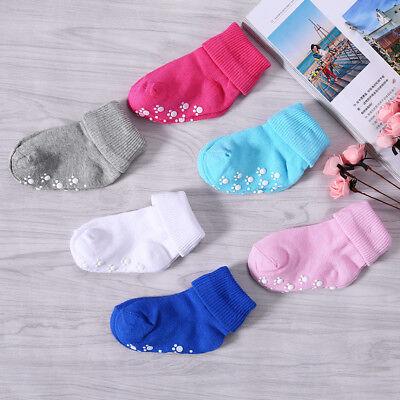 1 Pair Anti-slip Children Baby Toddler Socks Cartoon Socks Girls Boys Soft Socks