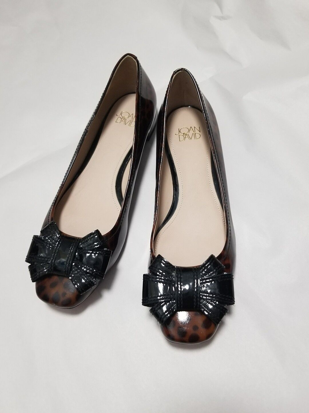 Joan & David Patent Leather Bow Flats Size 9