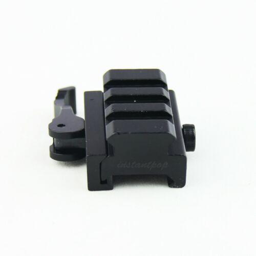 "3-Slot Quick Release Detach 1//2/"" Mini Riser Scope Sight Mount For Picatinny Rail"
