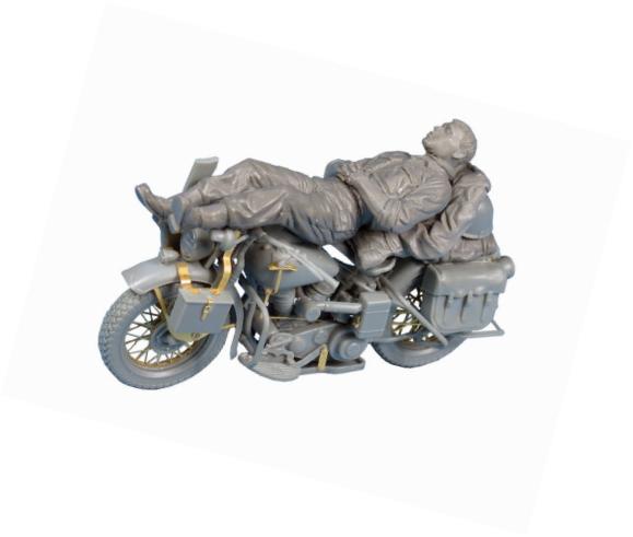 Rest On Motorcycle Kit 1:35 Miniart MIN35176