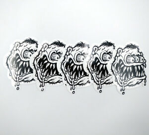 5pcs Big Daddy STREET CLEANER Racing Rat Fink Decal Ed Roth Vinyl Stickers