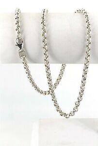 Estate-999-Sterling-Silver-4mm-Rolo-Chain-Necklace-20-034-USA