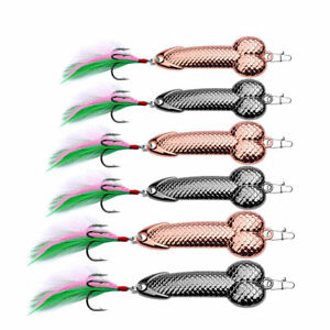 Penis-Fishing-Lure-Bass-Funny-Tackle-Hook-dick-spinner-spoon-pike-3g-36g-Hot