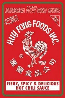 Sriracha Hot Sauce Label Poster 36x24 NMR