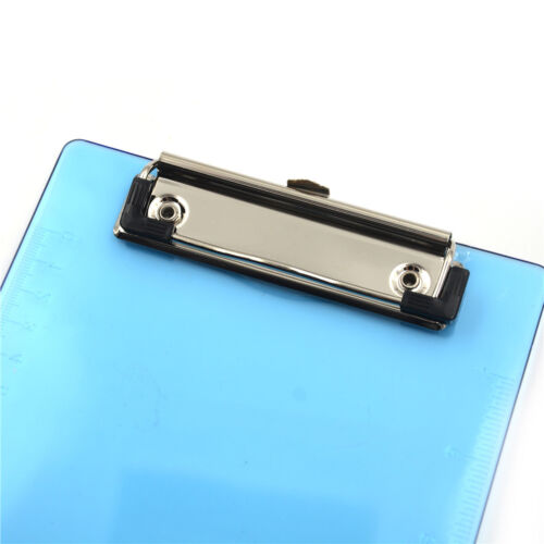 1pc New Clipboard Plate Door Translucent Block Clip For Paper A5 OffiNS