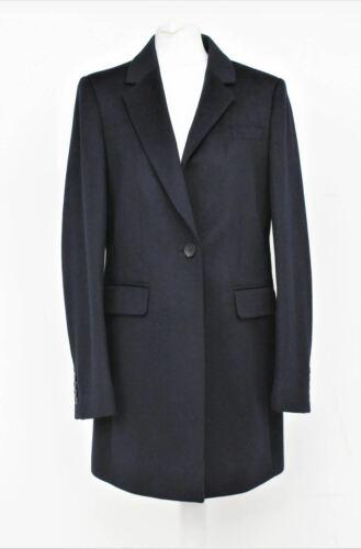 Hobbs Damas Azul Marino Lana abrigo de un solo botón Tia largo hasta la rodilla UK10 BNWT RRP279