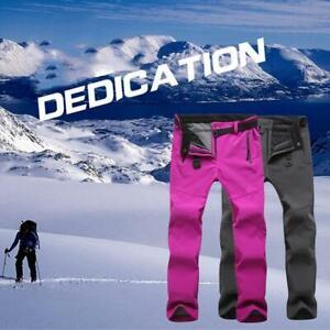 Men-Women-Winter-Outdoor-Hiking-Ski-Pants-Fleece-Windproof-Waterproof-Trousers