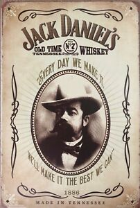 Jack-Daniels-Old-No-7-Tennessee-Whiskey-1886-brand-new-tin-metal-sign-MAN-CAVE