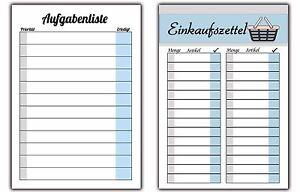 to-do Liste Aufgabenliste Einkaufszettel Einkaufsliste Notizblock ...