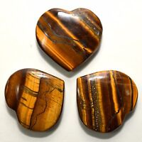48mm Yellow Tiger Eye Heart Polished Chatoyant Gemstone Crystal - Africa (1pcs)