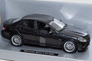 Mercedes-Benz-C-63-AMG-Black-NewRay-Escala-71083-1-24-modelo-de-coche-de-regalo-para-el