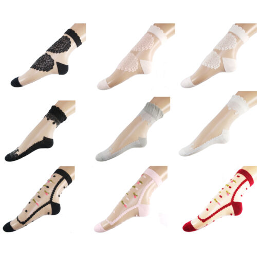 WHOLESALE 12 PAIRS LADIES GIRLS BLACK WHITE THIN LACE FRILL SOCKS GIFT STYLE8161