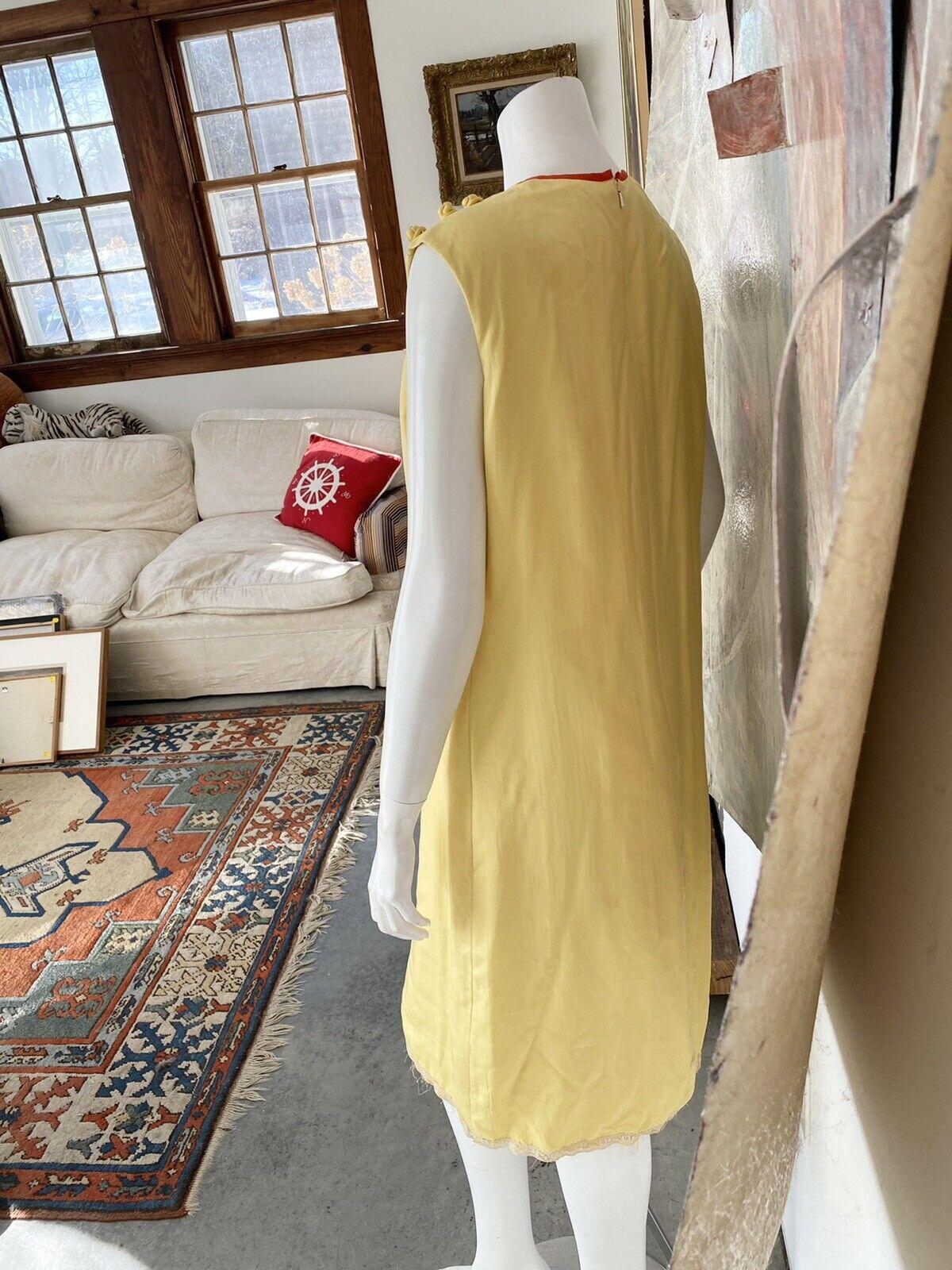 Vintage Alice John Rogers Yellow Silk Pussybow Sh… - image 8