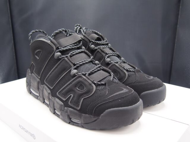 4114bf409230a ... inexpensive nike air more uptempo triple black 3m reflective pippen  shoes mens 11 ds 7b05b 14d84