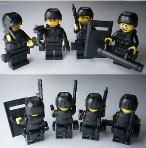 No4 2 Custom Lego Swat Team Weapson Police Army Guns Helmet Parts