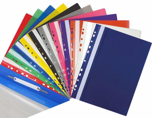 3 x A4 XL Capacity Clip Bar Files Report Project Black Slide Binder Folders