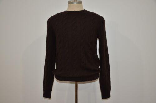 en Cashmere Purple Ralph Sweater Lauren Hecho 100 Italia Cable Crewneck Label 5IwHw0