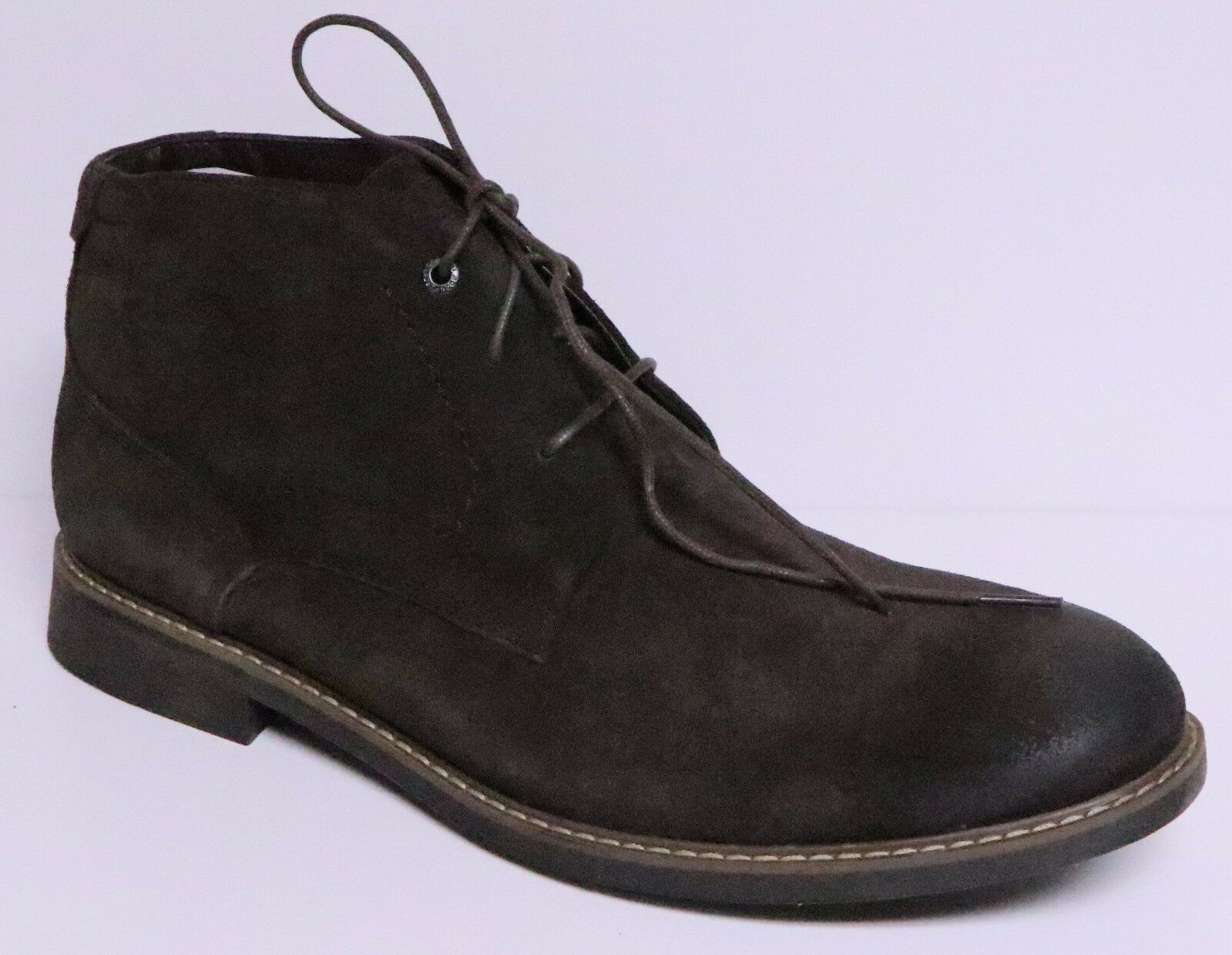 ROCKPORT CLASSIC BREAK MEN'S DARK BROWN SUEDE LEATHER CHUKKA BOOTS LACE UP NEW
