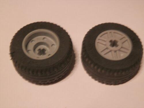 LEGO 55982c03# 2x pneus roues roue 30.4x14vr jante gris nouveau gris clair 8142 42023