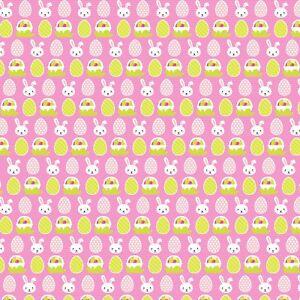 Printed Bow Fabric A4 Canvas Easter Bunnies Carrots ES5 Make glitter hair bows