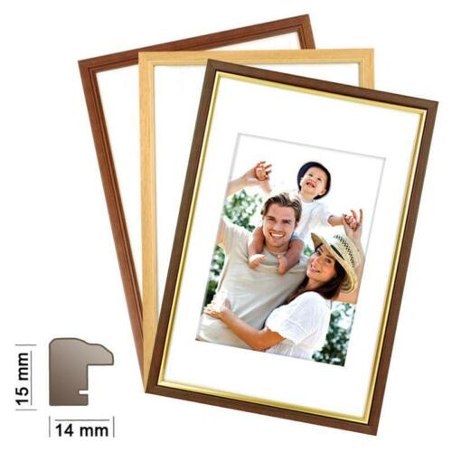 Wechselrahmen in 3 Farben Fotorahmen Holzrahmen KANSAS Bilderrahmen Holz