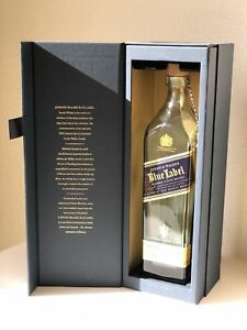 Image is loading Johnnie-Walker-Blue-Label-Bottle-with-Gift-Box-