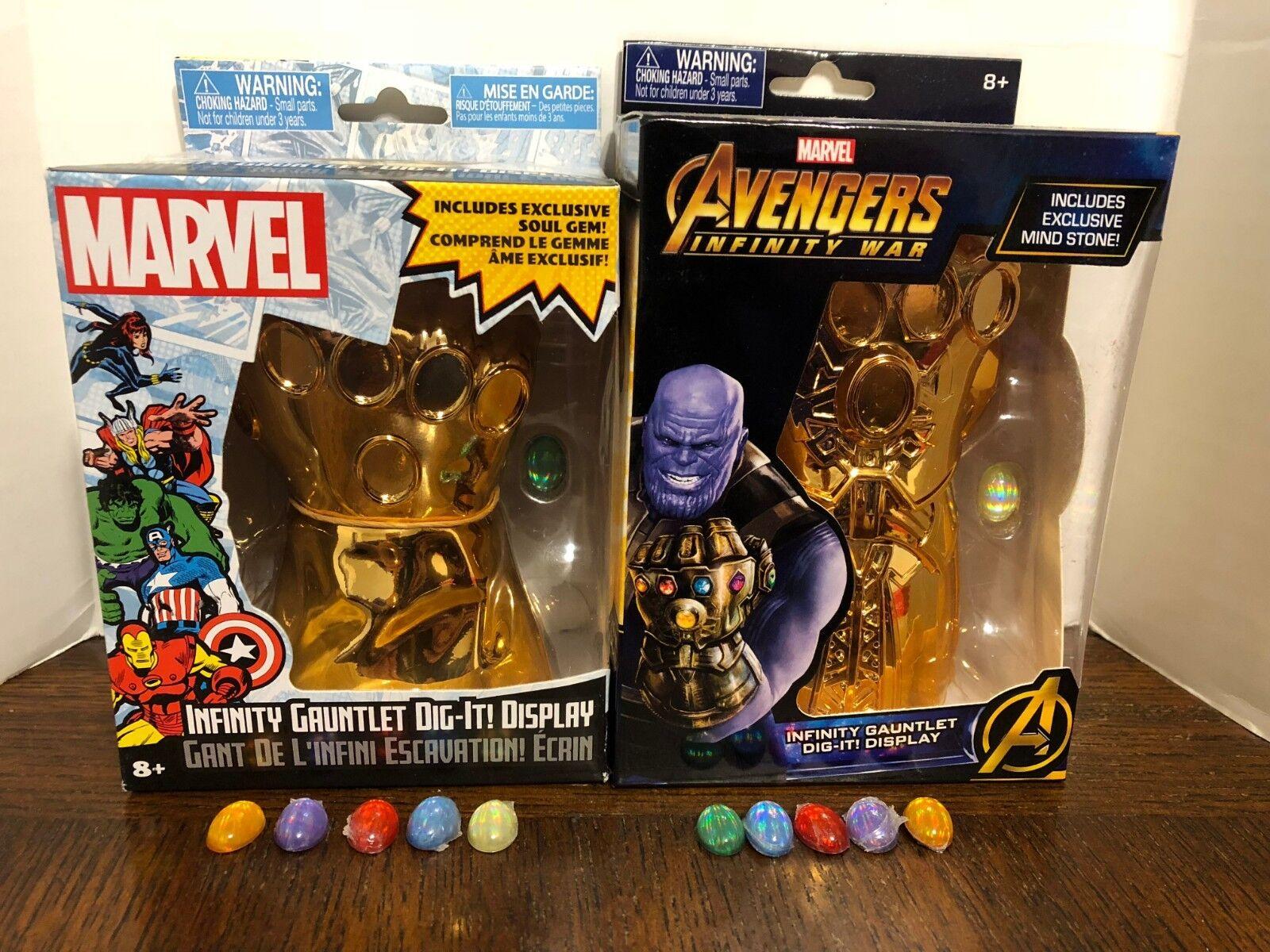Infinity Gauntlet Dig It  serie 1 y 2 Conjunto Completo Gemas piedras tanto VER DESCR