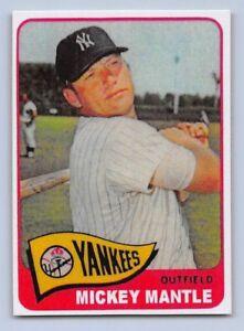 1965-MICKEY-MANTLE-Topps-034-REPRINT-034-Baseball-Card-350-NEW-YORK-YANKEES