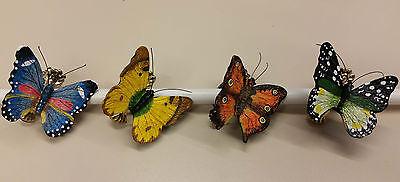 Raffklammern Mit Schmetterlingsmotiv Handbemalt - 2 Stück äRger LöSchen Und Durst LöSchen