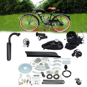 2 takt 50cc moteur motorisierte gas fahrrad benzin hilfsmotor motor engine kit ebay. Black Bedroom Furniture Sets. Home Design Ideas