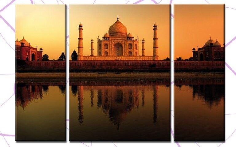Taj mahal 3 Images toile 120x80cm Inde palais palace