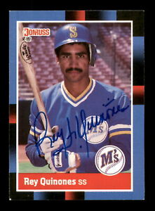 Rey Quinones Autographed Signed 1988 Donruss Card #198 Seattle Mariners 188500