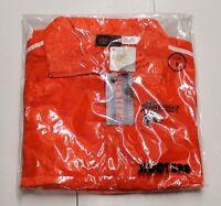 Authentic Hooters Orange Jumpsuit Track Warm Up Suit Small /s Orange & White