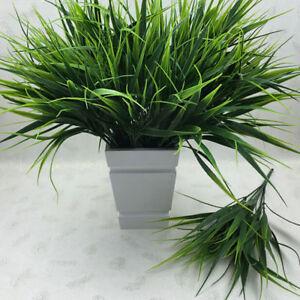 7-Heads-Artificia-Plastic-Green-Grass-Plant-Flowers-Office-Home-Garden-Decor-YK