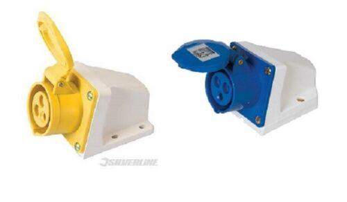 Silverline 16 A Hardwire Socket Surface-Montable Socket 110 V ou 230 V 3 broches