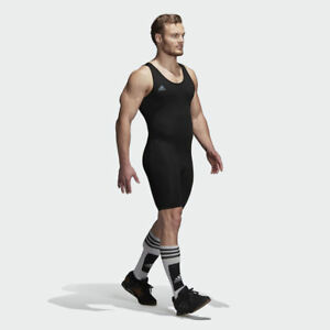 deed88898a41 Image is loading Adidas-Powerlift-Weightlifting-Singlet-Wrestling-Suit -Gym-Training-