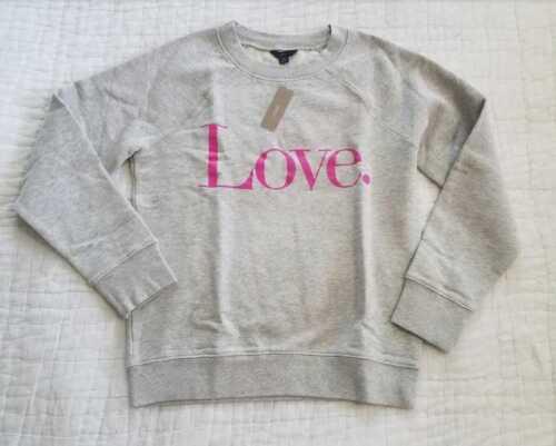 NEW WOMEN/'S XS L XL J CREW LOVE SWEATSHIRT IN HEATHER DUSK