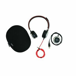 Jabra Evolve 40 Hsc017 Uc Stereo Wired Headset With 3 5mm Jack And Usb Adapter 615822009409 Ebay