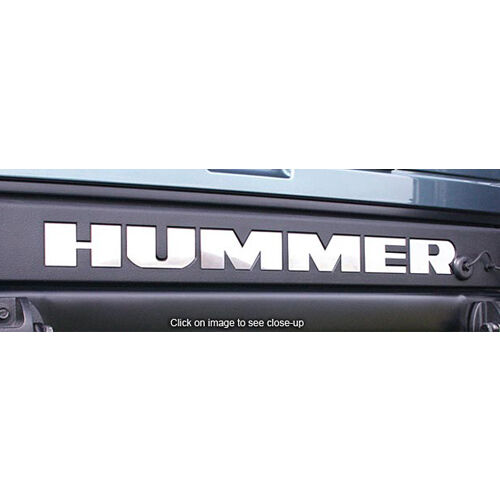 2003-2009 Hummer H2 SUT Tailgate Bumper Rear Stainless Steel Chrome Letters Set