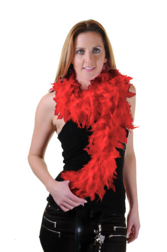 FEATHER BOA 150 CM WHITE OR BLACK BURLESQUE SHOWGIRL HEN NIGHT FANCY DRESS PARTY