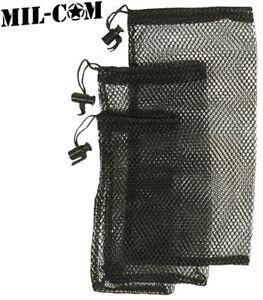 f85b4800da26 Details about Mesh Ditty Bag Stuff Sack Set Camping Hiking Drawstring Net  Pouch Black 3 Pack
