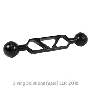 """2Pcs Scuba Diving Underwater Photography Camera 6/"""" Dual Ball Joint Arm Mount"""